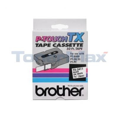 BROTHER P-TOUCH TAPE BLACK/WHITE (3/4 X 50)